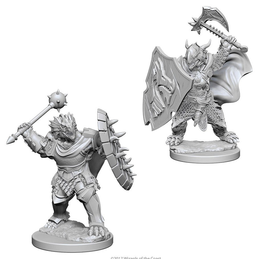 Dungeons & Dragons: Nolzur's Marvelous Unpainted Miniatures: Dragonborn Male Paladin