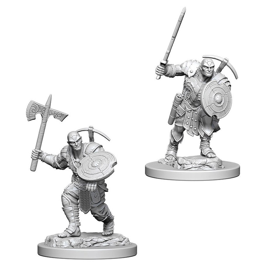 Dungeons & Dragons: Nolzur's Marvelous Unpainted Miniatures: Earth Genasi Male Fighter