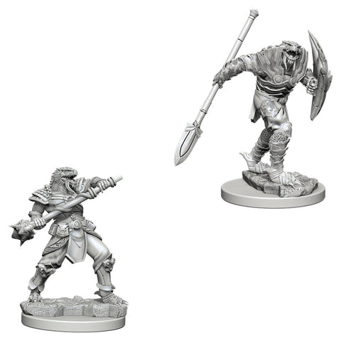 Dungeons & Dragons: Nolzur's Marvelous Unpainted Miniatures: Dragonborn Male Fighter with Spear
