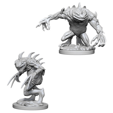 Dungeons & Dragons: Nolzur's Marvelous Unpainted Miniatures: Grey Slaad & Death Slaad
