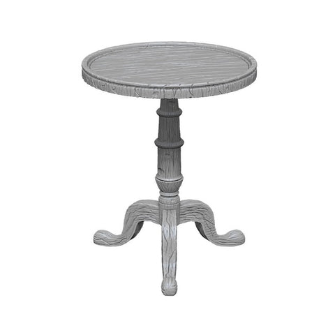 WizKids Deep Cuts Unpainted Miniatures: Small Round Tables