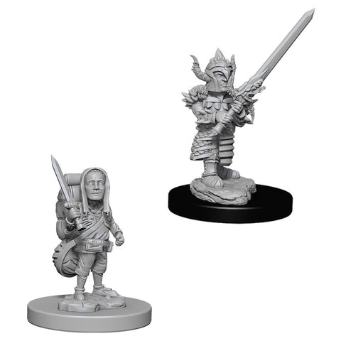 Dungeons & Dragons: Nolzur's Marvelous Unpainted Miniatures: Male Halfling Fighter