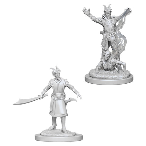 Dungeons & Dragons: Nolzur's Marvelous Unpainted Miniatures: Male Tiefling Warlock