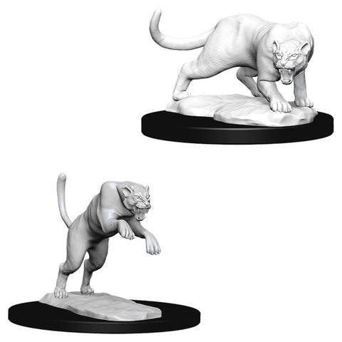Dungeons & Dragons: Nolzur's Marvelous Unpainted Miniatures: Panther & Leopard