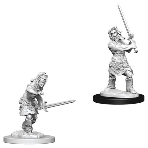 Pathfinder Deep Cuts Unpainted Miniatures: Male Human Barbarian