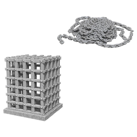WizKids Deep Cuts Unpainted Miniatures: Cage & Chains