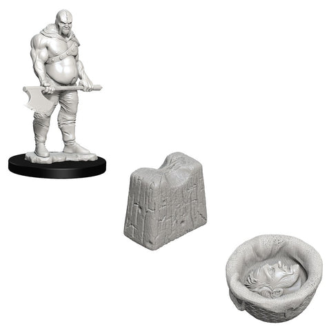 WizKids Deep Cuts Unpainted Miniatures: Executioner & Chopping Block
