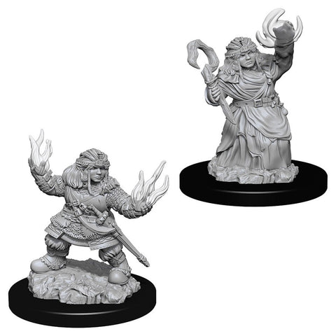 Pathfinder Deep Cuts Unpainted Miniatures: Female Dwarf Summoner
