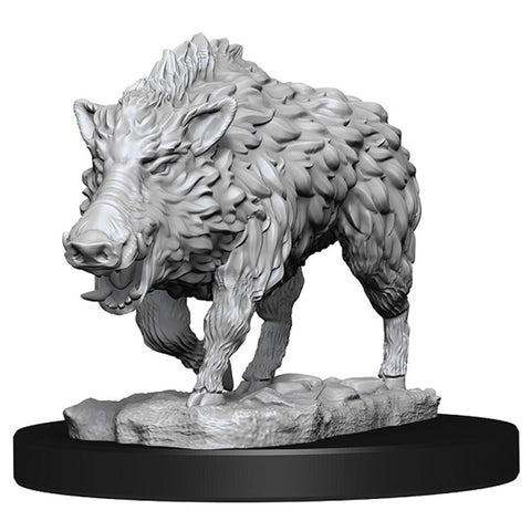 WizKids Deep Cuts Unpainted Miniatures: Wild Boar