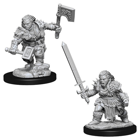 Pathfinder Deep Cuts Unpainted Miniatures: Female Dwarf Barbarian