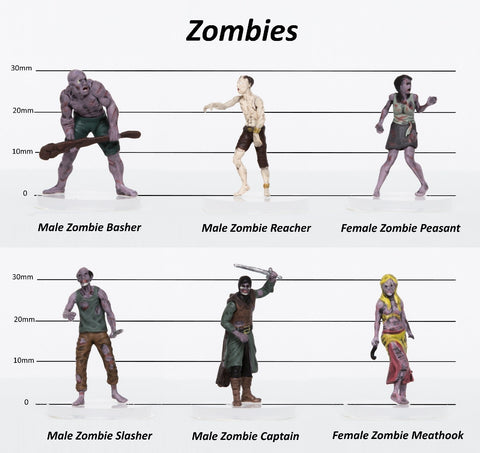 28mm Fantasy: Characters of Adventure - Set of 6 Zombies