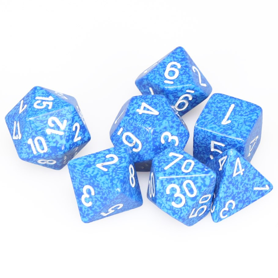 7-set Cube - Speckled Water