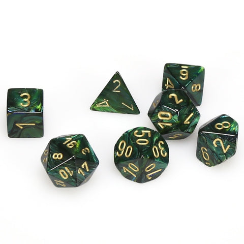 7-set Cube - Scarab Jade with  Gold