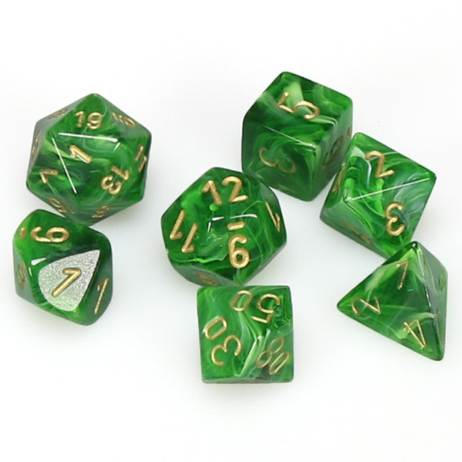 7-set Cube - Vortex Green with Gold