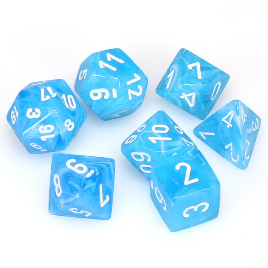 7-set Cube - Cirrus Light Blue with White