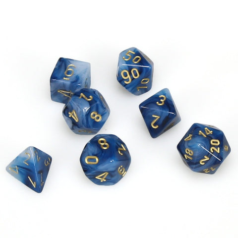 7-set Cube - Phantom Teal with  Gold