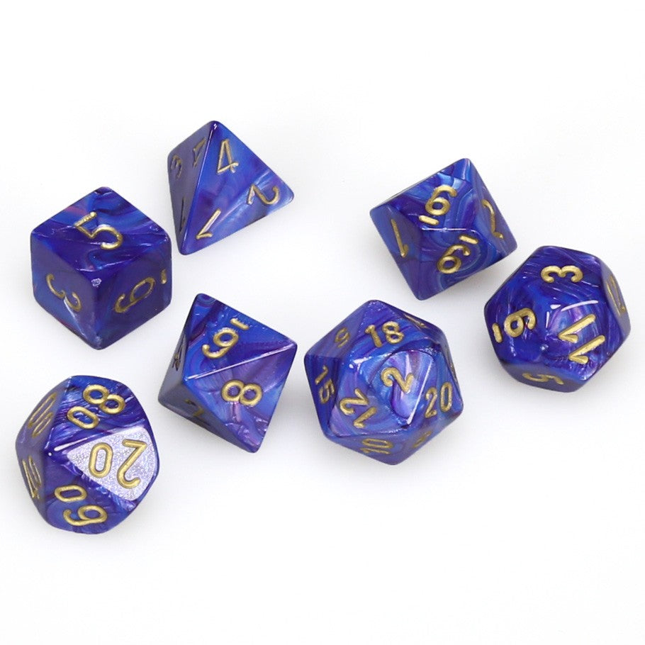 7-set Cube - Lustrous Purple with  Gold