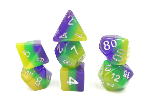Blue/Green/Yellow Gradient Dice Set