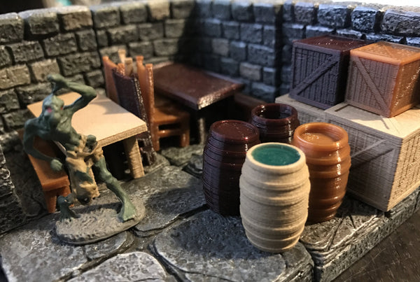 28mm Scale Role-Playing Game Miniature Tavern Pack