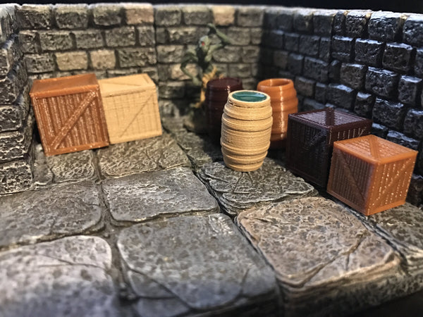 28mm Scale Role-Playing Game Miniature Dungeon Dressings Pack