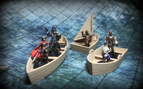 28mm Scale Role-Playing Game Miniature Boats
