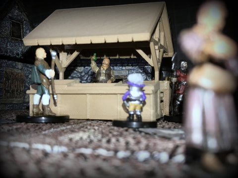 28mm Scale Role-Playing Game Miniature Market Stall