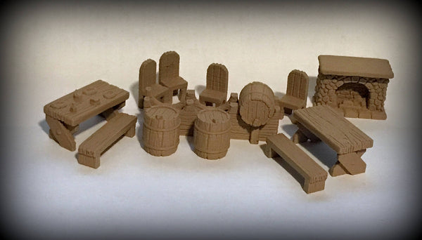 28mm Scale Role-Playing Game Miniature Deluxe Tavern Expansion Pack