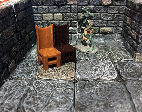 28mm Scale Role-Playing Game Miniature Tavern Chair