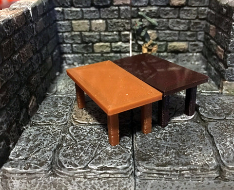 28mm Scale Role-Playing Game Miniature Tavern Table