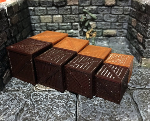 28mm Scale Role-Playing Game Miniature Crates
