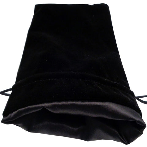 Dice Bag: 6x8: Black Velvet with Black Satin