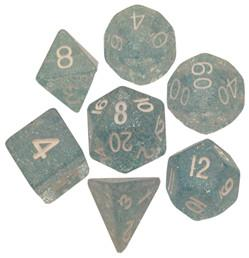 7-set: 16mm: Ethereal Light Blue with White Numbers