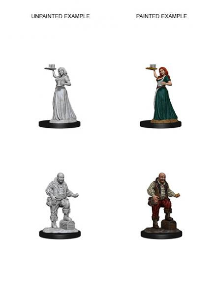 Pathfinder Deep Cuts Unpainted Miniatures: Merchants