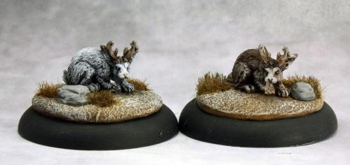 Savage Worlds Miniatures: Jackalope (2)