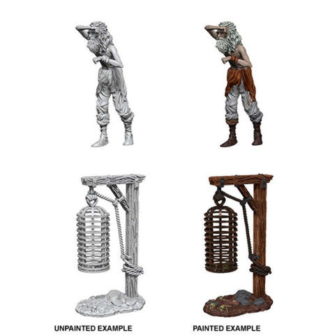 WizKids Deep Cuts Unpainted Miniatures: Hanging Cage