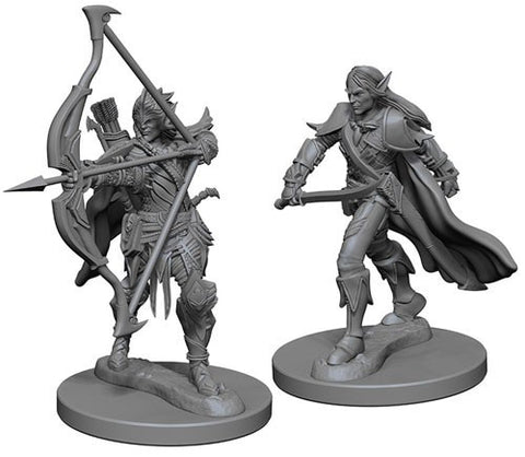 Pathfinder Deep Cuts Unpainted Miniatures: Elf Male Fighter
