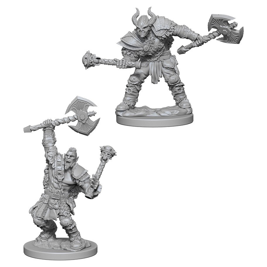 Pathfinder Deep Cuts Unpainted Miniatures: Half-Orc Male Barbarian