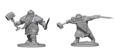 Dungeons & Dragons: Nolzur's Marvelous Unpainted Miniatures: Dwarf Male Fighter