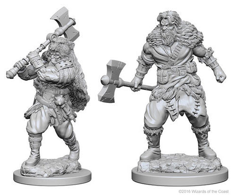 Dungeons & Dragons: Nolzur's Marvelous Unpainted Miniatures: Human Male Barbarian