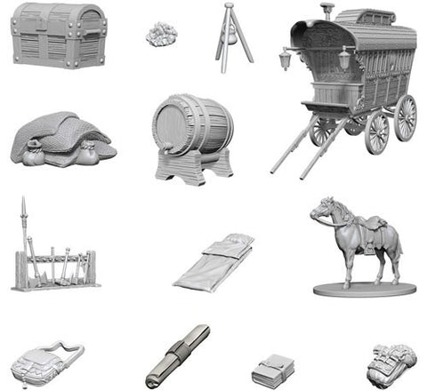 Dungeons & Dragons: Nolzur's Marvelous Unpainted Miniatures: Adventurer's Campsite