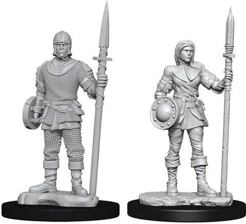 WizKids Deep Cuts Unpainted Miniatures: Guards
