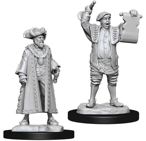 WizKids Deep Cuts Unpainted Miniatures: Mayor & Town Crier
