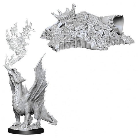Dungeons & Dragons: Nolzur's Marvelous Unpainted Miniatures: Gold Dragon Wyrmling & Small Treasure Pile