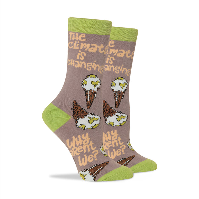The Climate is changing why aren't we? Women's Socks