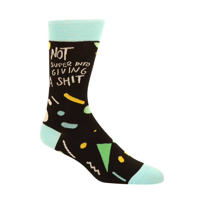 Not Super Into Giving A S--t Men's Socks