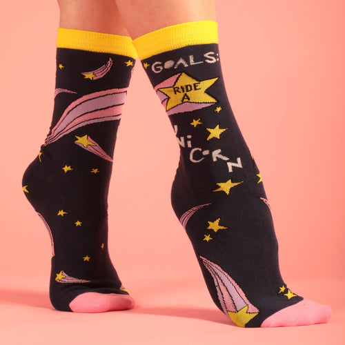 Goals: Ride a Unicorn Women's Socks