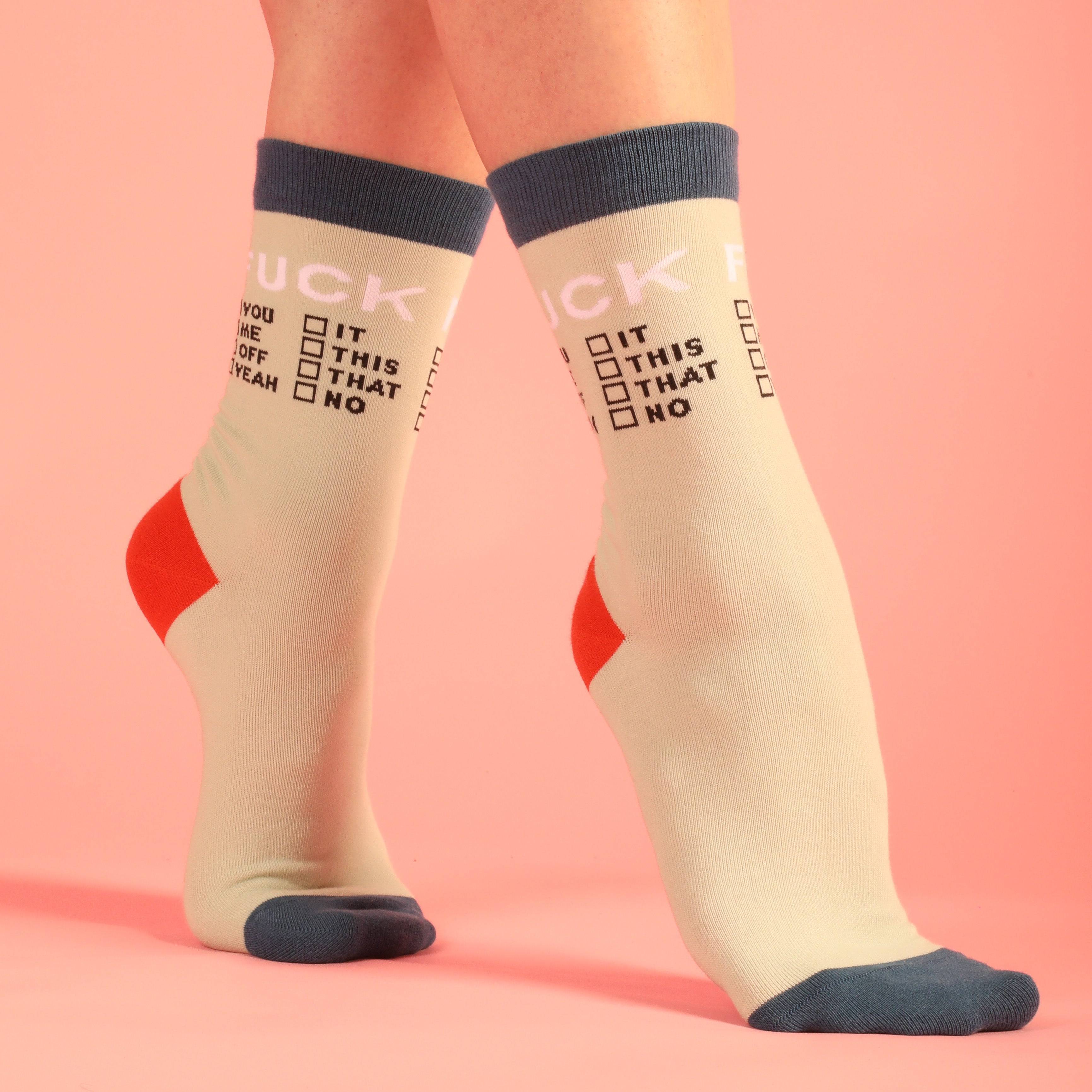 Fuck Checklist Women's Socks