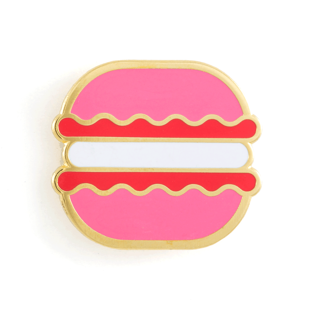 Strawberry Macaron Pin