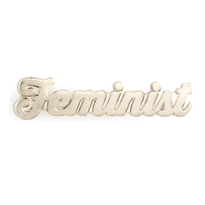 Feminist Silver Pin
