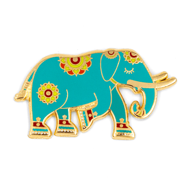 Floral Elephant Pin